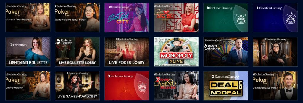 MrBit Casino Live Spiele