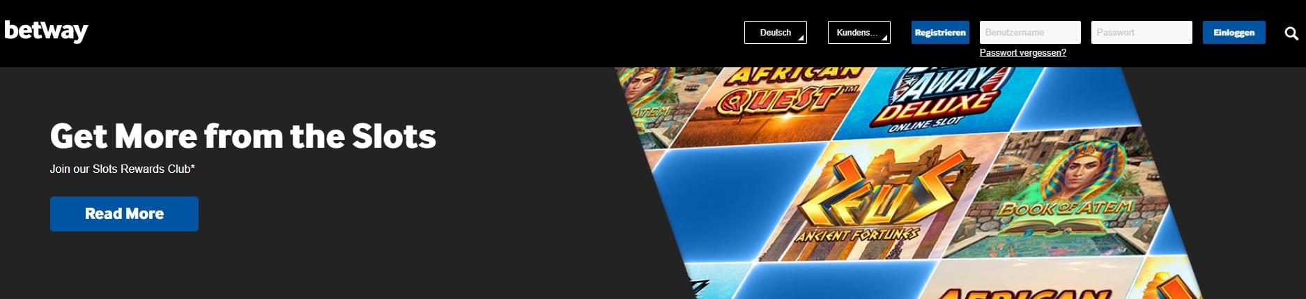Betway Casino Seitenübersicht